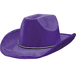 Purple Suede Cowboy Hat
