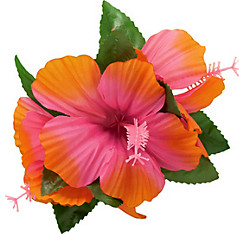 Pink Hibiscus Barrette