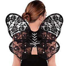 Black Lace Butterfly Wings