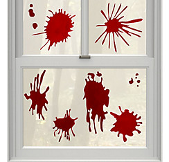 Blood Splatter Gel Cling Decals 9ct