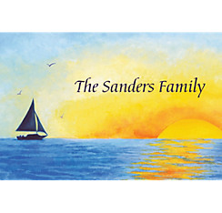 Silhouette Sailboat Custom Thank You Note