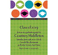 Custom Colorful Commencement Graduation Invitations