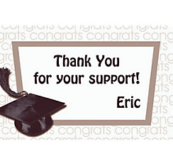 White Congrats Grad Custom Thank You Notes