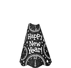 Glitter Black New Year's Cone Hat