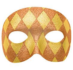 Glitter Gold Harlequin Masquerade Mask