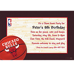 Chicago Bulls Custom Invitation