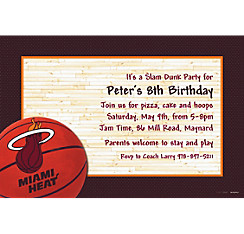 Miami Heat Custom Invitation