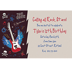 Party Rock Custom Invitation