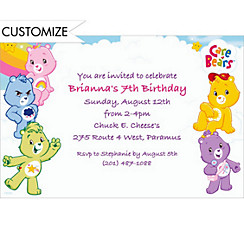 Care Bears Custom Invitation