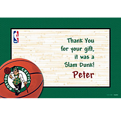 Boston Celtics Custom Thank You Note