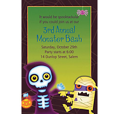 Boo Crew Halloween Custom Invitation