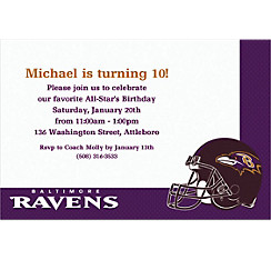 Baltimore Ravens Custom Invitation