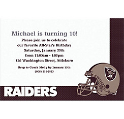 Oakland Raiders Custom Invitation