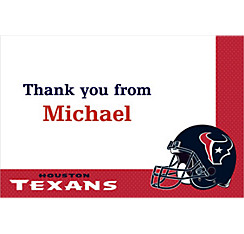 Houston Texans Custom Thank You Note