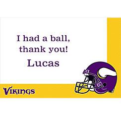 Minnesota Vikings Custom Thank You Note