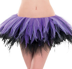 Adult Black and Purple Handkerchief Tutu