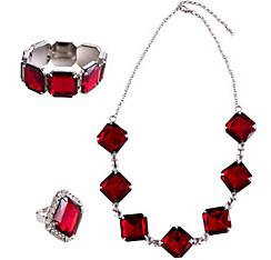 20s Ruby Jewelry Set