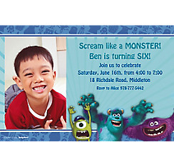 Monsters University Custom Photo Invitation