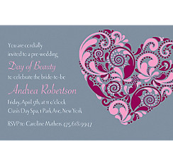 Big Heart Custom Bridal Shower Invitation