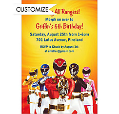 Power Rangers Megaforce Custom Invitation