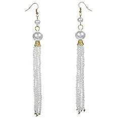 Roaring '20s Pearl Tassel Earrings