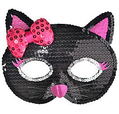 Child Sequin Black Cat Mask