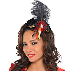 Feathered Pirate Tricorner Headpiece