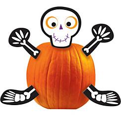Skeleton Pumpkin Decorating Kit