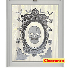 Skull Mirror Cling Decals 14ct