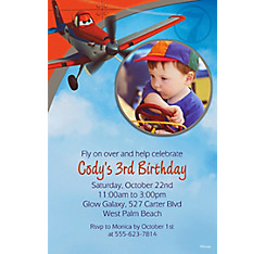 Planes Custom Photo Invitation