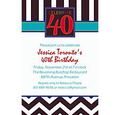 40th Celebration Custom Invitation