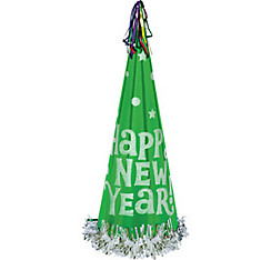 Green Tall New Year's Cone Hat
