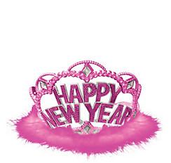 Pink Marabou New Year's Tiara
