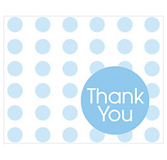 Blue Polka Dot Thank You Notes 8ct