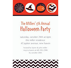 Modern Halloween Custom Invitation