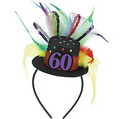 60th Birthday Mini Top Hat Headband
