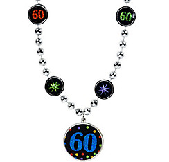60th Birthday Pendant Bead Necklace