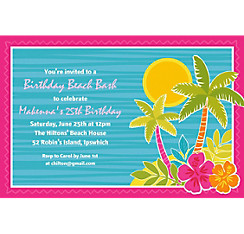 Summer Scene Custom Invitation