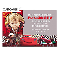 Cars Formula Racer Custom Photo Invitation