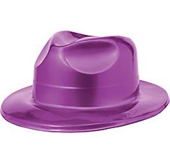 Purple Plastic Fedora