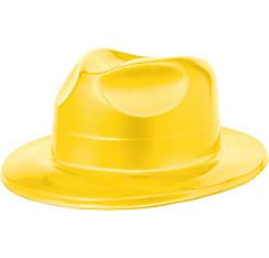 Yellow Plastic Fedora