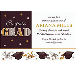 Custom Festive Grad Invitations