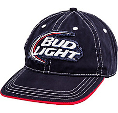 Distressed Bud Light Baseball Hat