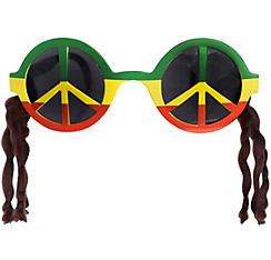 Peace Sign Rasta Sunglasses