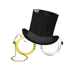 Top Hat & Monocle Glasses
