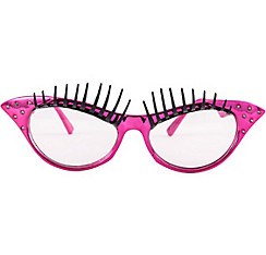 Pink Eyelash Cat Eye Glasses