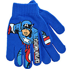 Child Blue Captain America Gloves