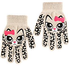 Child White Cat Gloves