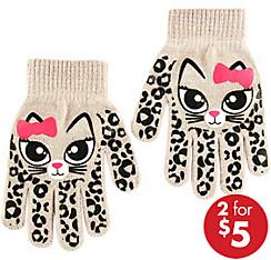 Child White Cat Gloves