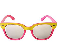 Pink & Yellow Mirrored Sunglasses